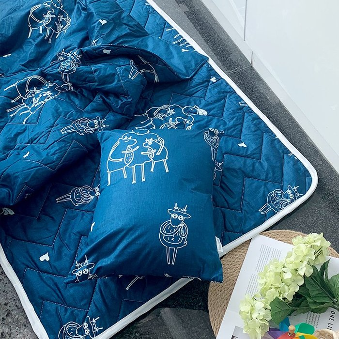 睡墊組 / 兒童標準【迷路的床邊故事】幼兒專用睡墊三件組  100%精梳棉  戀家小舖台灣製AAL088