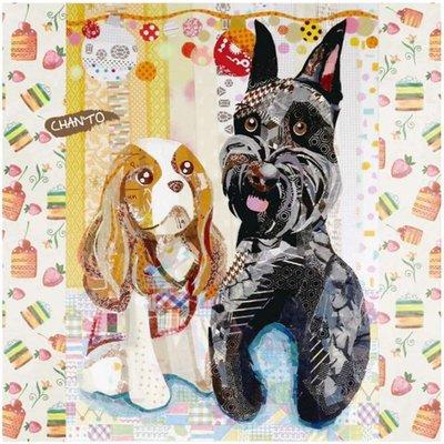 日本Pikka Pikka世界最細纖維毛孔潔淨布 A49/ 小獵犬與雪納瑞奇遇仙境 /氣質名媛/人氣部落客分享