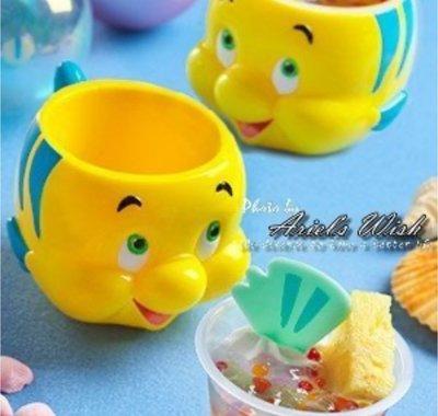 Ariel's Wish-日本東京迪士尼小美人魚好朋友小比目魚Flounder點心杯點心碗茶杯小水杯兒童安全塑膠杯-現貨