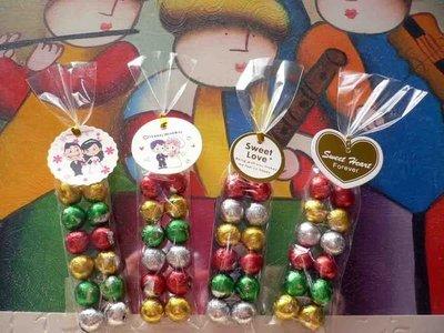 需自行包裝~100包彈珠巧克力串(24款小卡任選)~聖誕節禮物派對小物結婚禮小物喜糖囍糖二次進場送客禮贈品周年慶生分享禮