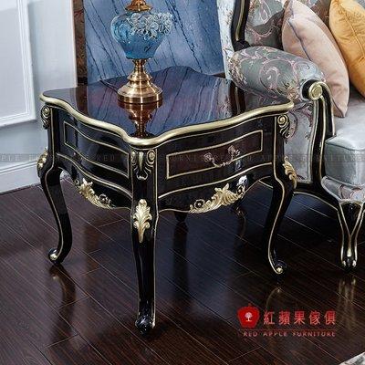 [紅蘋果傢俱]CT0031茶几 新古典 金邊雕花 實木框架 實體店面