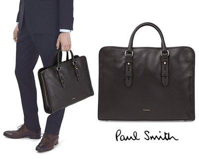 Paul Smith (深棕色) 真皮手提包 肩背包 公事包|100%全新正品|特價!   即將缺貨!