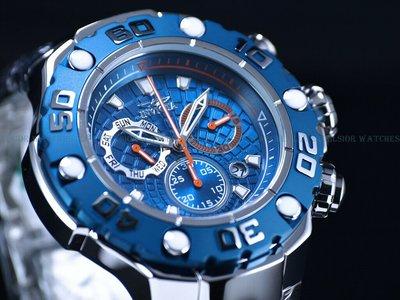 《大男人》Invicta ##618 EXCURSION瑞士54MM個性潛水錶,海洋藍非常漂亮(本賣場全現貨)
