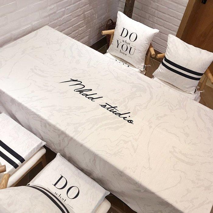 創意 居家 裝飾棉花大盜家用客廳長方形簡約桌布布藝防水茶幾桌布餐桌布桌墊臺布