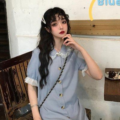 現貨免運法式裙喪系裙子仙女超仙森系很仙的小眾桔梗裙