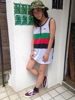 ☆AirRoom☆【現貨】STUSSY FLAG MESH TANK 球衣 背心 多色 春夏 白