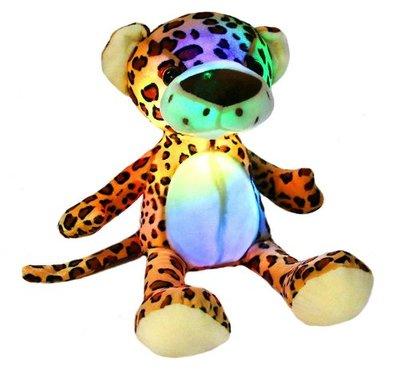 13672c 歐洲進口 好品質 限量品 可愛 會發光發亮 柔軟 獵豹花豹動物抱枕絨毛玩偶絨毛絨娃娃擺設品送禮禮物