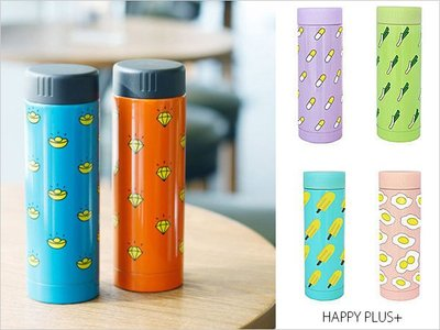 HAPPY+【V5003】日本韓國 創意 真空保溫瓶 保溫杯 熱水瓶 水壺 不鏽鋼 小清新 My Bottle 馬卡龍系