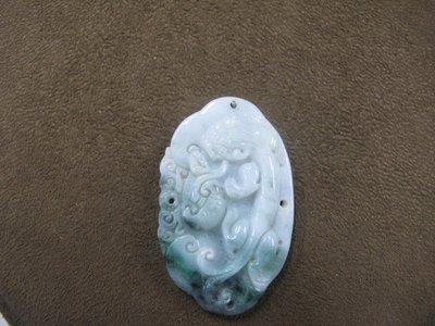二手舖 NO.4252 天然玉石 翡翠A貨玉墜 墜子 首飾飾品