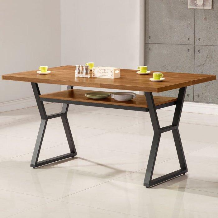 愛德琳工業風4尺餐桌 會議桌 書桌 【Yostyle】DS-1723-291