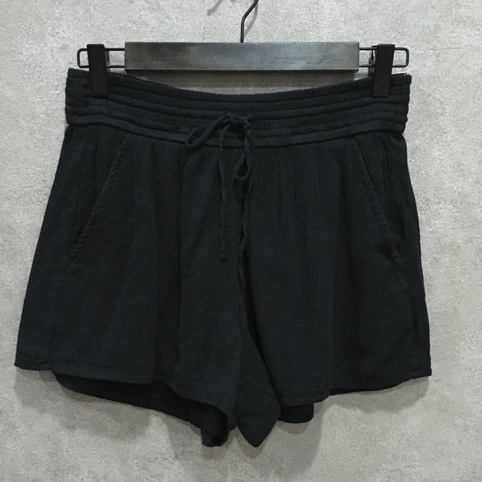 Maple麋鹿小舖 Abercrombie&Fitch * AF 黑色鬆緊帶口袋短褲 * ( 現貨S號 )