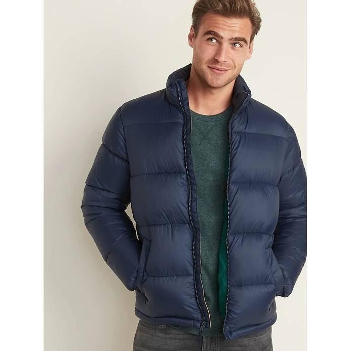 【現貨 M L】 Old Navy 時尚輕盈保暖舒適立領外套 防風防寒防水保暖外套