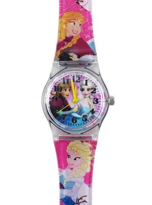 【卡漫迷】冰雪奇緣 卡通錶 M ㊣版 艾莎 安娜 公主 Elsa Anna Frozen 手錶 兒童錶 女錶 260元