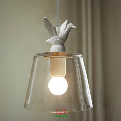 【美學】簡約現代時尚玻璃透明玻璃吊燈客廳臥室餐廳地中海燈具MX_12