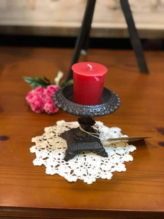 《齊洛瓦鄉村風雜貨》日本zakka雜貨 法式復古仿舊鑄鐵燭台 香氛蠟燭台 燭光晚餐桌上裝飾