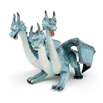 佰佰重現RECUR 仿真三頭龍模型魔幻神話冰封之王諾德動物玩偶兒童玩具