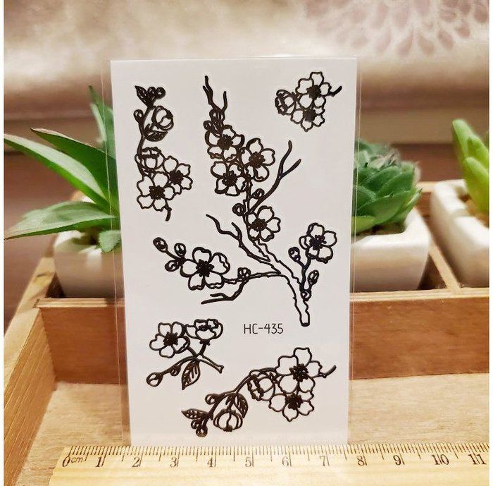 【萌古屋】黑色小圖騰 - 男女防水紋身貼紙刺青貼紙HC-435