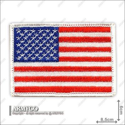 【ARMYGO】美國國旗 (彩色白邊朝左版)
