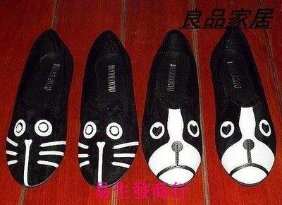 【易生發商行】秋冬歐美女鞋平跟單鞋 M*J貓狗鞋女樂福鞋絲絨F星人卡F6160