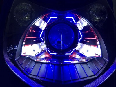 全新2代勁戰 魚眼頭燈 極光X6魚眼 送HID 二代 新勁戰