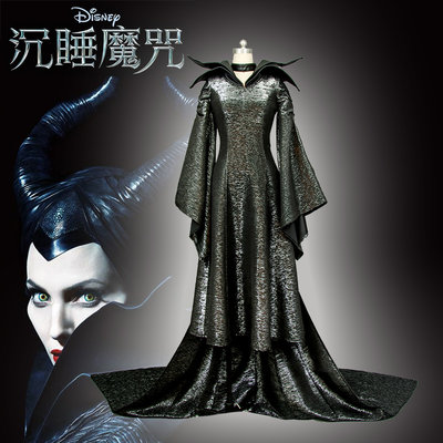 cosplay漫窩 沉睡魔咒cos 瑪琳菲森全套cosplay服裝 Maleficent 黑魔后cos服裝