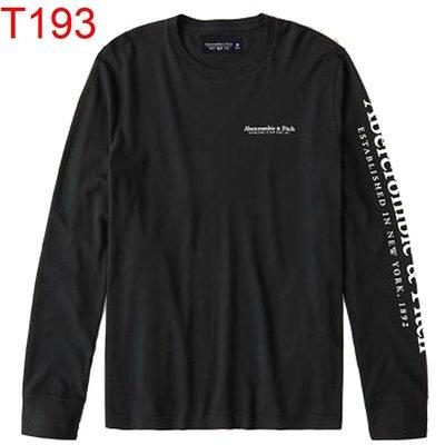 【西寧鹿】Abercrombie & Fitch AF A&F  男生 長袖T恤 絕對真貨 可面交 T193