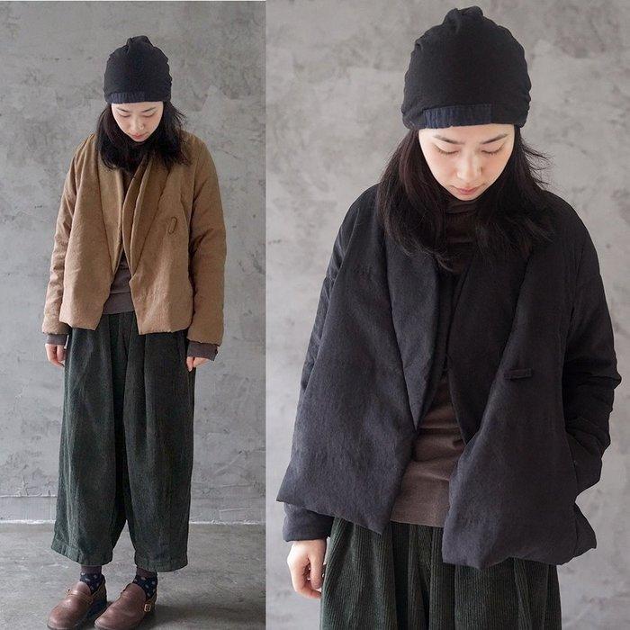 【子芸芳】原創冬季銅氨絨中式斜襟加厚棉衣復古茶服棉襖