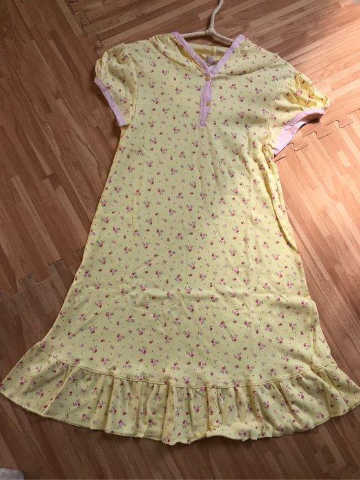 紫滕戀日系甜美睡衣 黃色小碎花帶帽甜美裙裝現貨免等