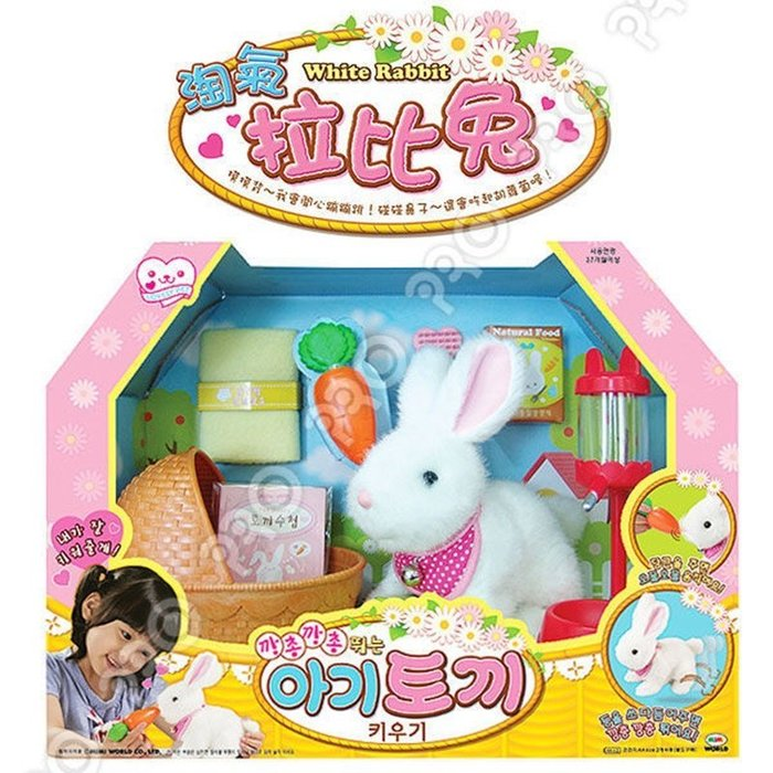 【阿LIN】60200A 淘氣拉比兔 拉比兔 小白免 MIMI WORLD 電子式寵物 照顧