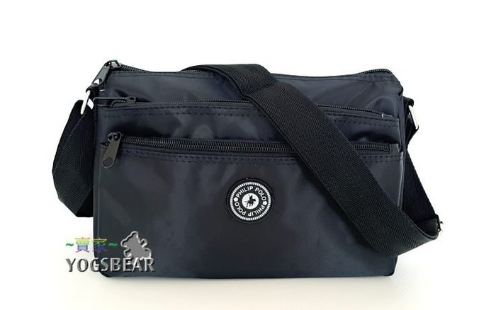 【YOGSBEAR】M 側背包 護照包 錢包 手機包 手機袋 斜背包 拉鍊包  Livisa  黑色