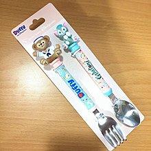 香港迪士尼 達菲&畫家貓兒童餐具