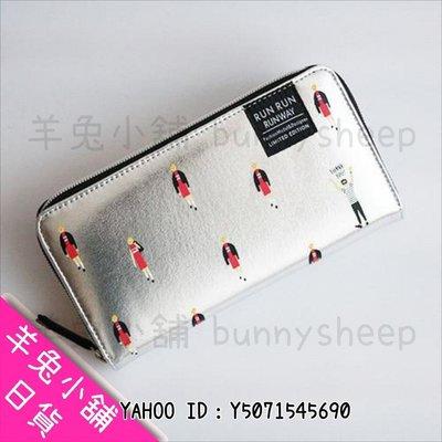 【日本RUN RUN RUNWAY模特兒走秀長夾】A401841 羊兔小舖 日貨 日本代購 零錢包 皮包 禮物