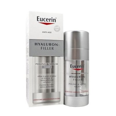 AMY SHOP EUCERIN Hyaluron Filler Peeling & Serum 雙銀管 透明質酸緊緻充盈夜間煥膚精華