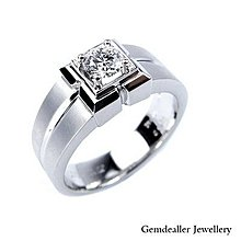 Gemdealler Jewellery 尊榮男戒/婚戒 30分鑽 D/VS1 見證頂級奢華的愛戀  MDR006
