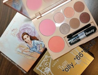 Cute Press X Disney Beauty & The Beast 胭脂眼影組 #02 Enchanted Beauty 紫粉紅色系 $180
