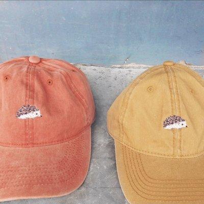 Hedgehog Cap Denim 刺蝟鴨舌帽 黃色 購於pinkoi