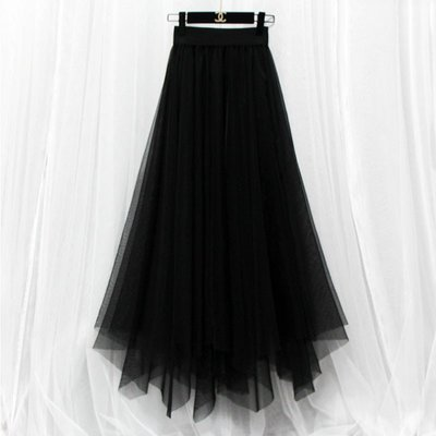 長裙 #2077 雪紡蕾絲 百搭有型
