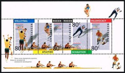 ~興嵩郵~荷蘭郵票Olympic Games~ Albertville小型張4張25年歷史