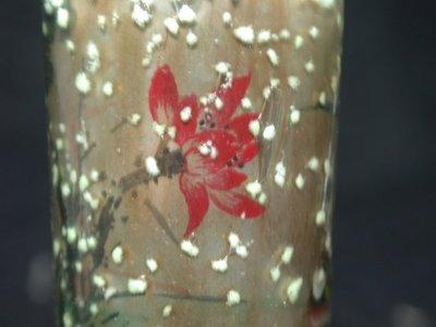 【茶博士】螢光料胎(蓮畔雙鴨)內畫鼻煙壺