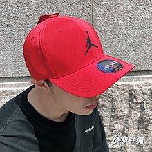 ⚡️潮鞋瘋⚡️NIKE JORDAN 飛人LOGO 紅色 可調式 棒球帽 帽子 AV8439-687