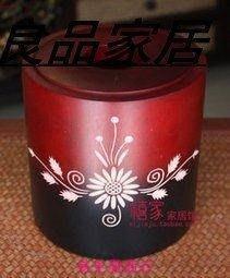 【易生發商行】泰國工藝品實木浮雕花圓筒...