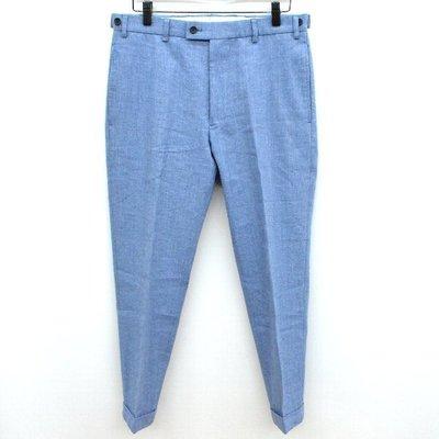 {CHI}visvim HIGH-WATER SLACKS BLUE WOOL 藍色 羊毛 窄版 西裝  褲