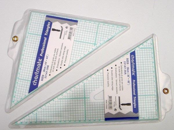 chartmate 恰得美 製圖桌:AT30AB 製圖用三角板  30CM