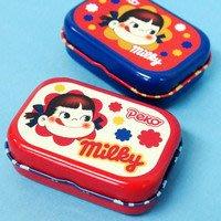 41+本通@gift41 不二家牛奶妹 Peko醬 藍 鐵製 鐵盒 耳機收納盒 萬用收納盒 4525636164392