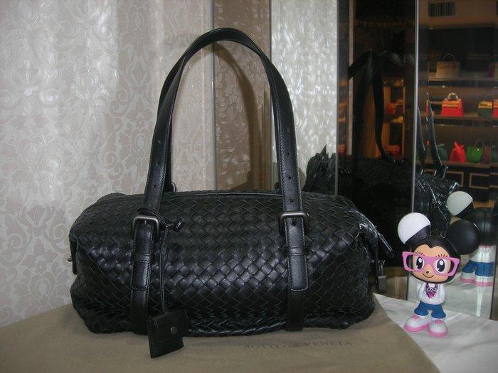 典精品 Bottega Veneta  未使用 BV 黑色 蒙恬包 波士頓 包 手提包 272801 現貨