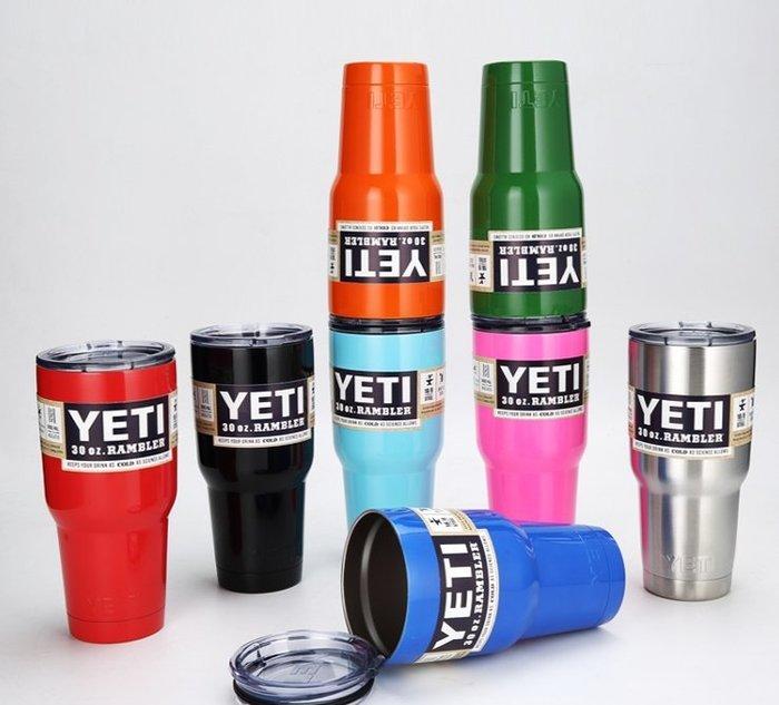 新款美國雪人yeti杯大容量雙層304不銹鋼真空保溫杯車載啤酒杯