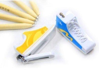 (巷子內創意精品小舖-家居生活.婚禮創意.特殊造型)立體運動鞋指甲刀-黃色