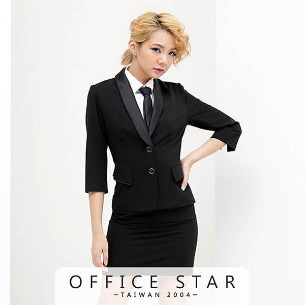 【13019】職業男女 OFFICE STAR經典黑色款七分外套