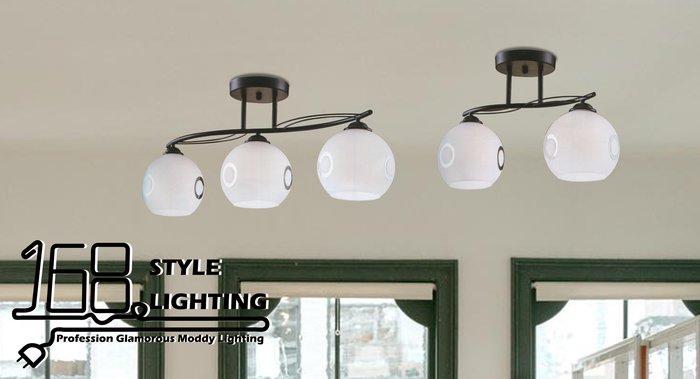 【168 Lighting】流型線條《時尚吸頂燈》(兩款)三燈款GI 71131-6
