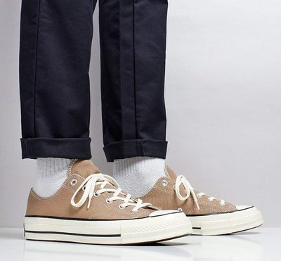 18S CONVERSE ALL STAR 1970 卡其 奶茶色 帆布 低筒 奶油底 三星 黑標 男女鞋161504C